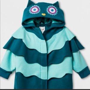 Cat & Jack Target Girls Owl Coat Toddler NEW